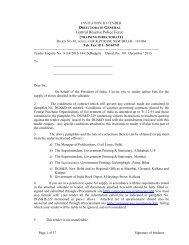Tender for purchase of Sports General Item TRG DTE CRPF DELHI
