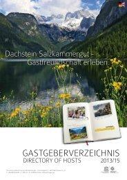 Imageteil Unterkunftsverzeichnis Dachstein Salzkammergut (.pdf, 4 ...