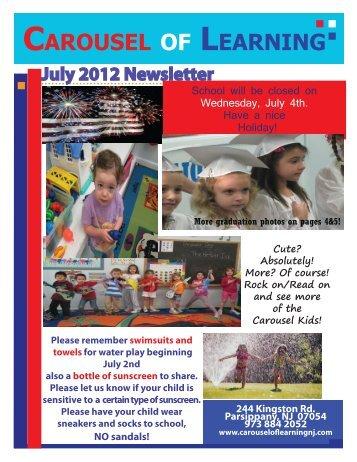 July 2012 Newsletter - Carousel Of Learning