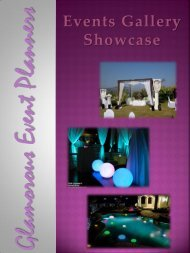 Glamorous Event Planners - Events Gallery Showcase