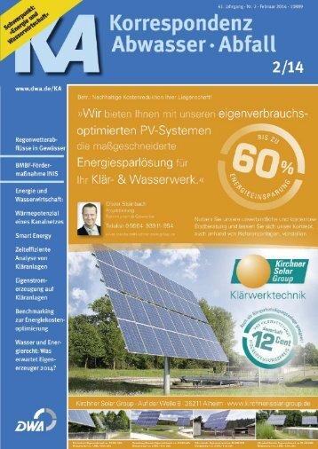 Aktuelle Leseprobe KA 2/2014 - DWA - Deutsche Vereinigung für ...