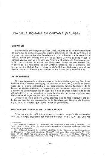 UNA VILLA ROMANA EN CARTAMA (MÁLAGA) - Dialnet