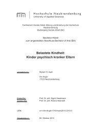 Kinder psychisch kranker Eltern - Hochschule Neubrandenburg