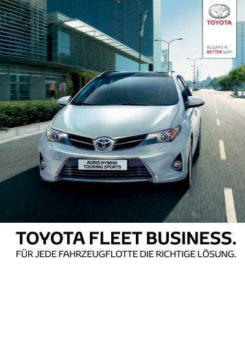 Ihre TOYOTA und LEXUS Flotte 2013 - Toyota Schweiz