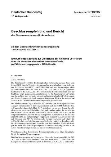 17/13395 - Deutscher Bundestag