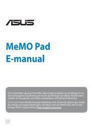 MeMO Pad E-manual - Asus