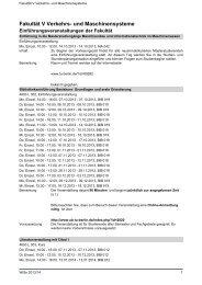 Fakultät V Verkehrs- und Maschinensysteme - Index of