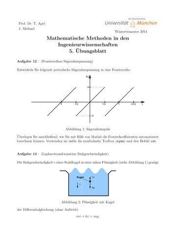 Mathematische Methoden in den Ingenieurwissenschaften 5 ...