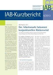 IAB-Prognose 2013: Der Arbeitsmarkt bekommt konjunkturellen ...
