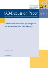 Einfluss der europäischen Regionalpolitik auf die deutsche ... - IAB