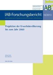 Projektion der Erwerbsbevölkerung bis zum Jahr 2060 - IAB
