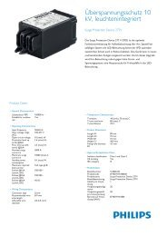 Product Leaflet: Surge Protection Device 277V - Philips