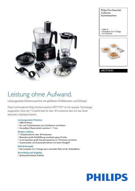Leaflet HR7774_91 Released Switzerland (German) High ... - Philips