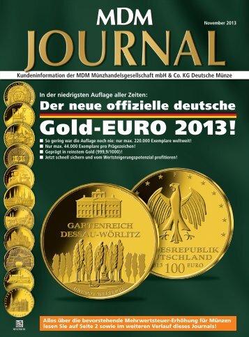 Gold-EURO 2013! - MDM Münzhandelsgesellschaft mbH & Co. KG