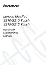 Lenovo IdeaPad S210/S210 Touch S215/S215 Touch