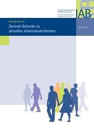 Zentrale Befunde zu aktuellen Arbeitsmarktthemen - IAB