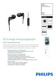 Leaflet SHN4600_10 Released Germany (German) High ... - Philips