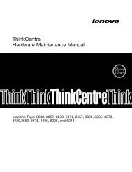 ThinkCentre Hardware Maintenance Manual - Lenovo