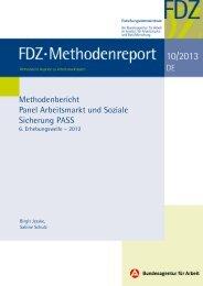 FDZ-Methodenreport 10/2013 - IAB