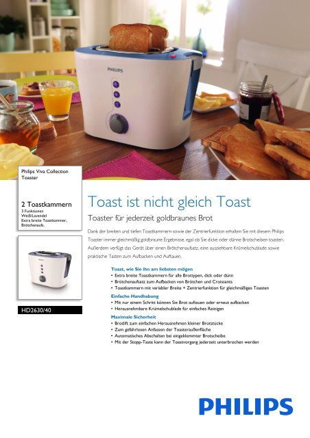 Leaflet HD2630_40 Released Germany (German) High-res ... - Philips