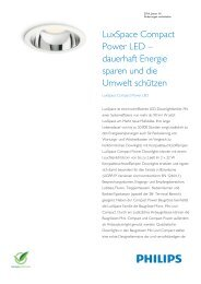 Product Familiy Leaflet: LuxSpace Compact Power LED - Philips