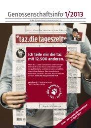 Genossenschaftsinfo 1/2013 - Taz