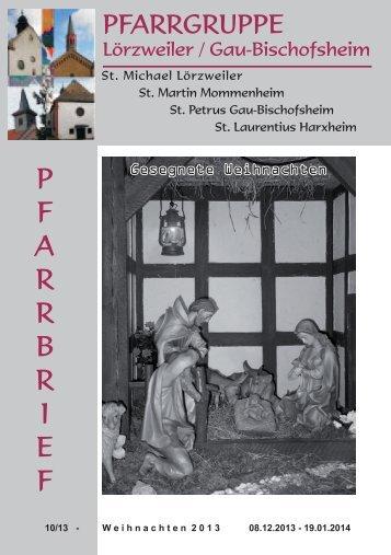 p f a r r b r i e f - Bistum Mainz