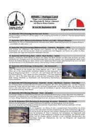 ISRAEL – Heiliges Land - Bistum Mainz