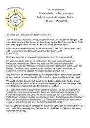 Krumbach - Lindenfels - Rimbach 01. Juni - Bistum Mainz