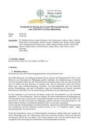Protokoll der Sitzung des Gesamt ... - Bistum Mainz
