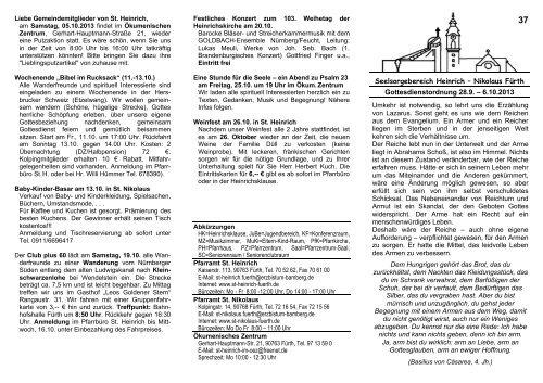 Seelsorgebereich Heinrich - Erzbistum Bamberg