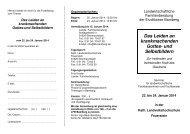 Flyer Seminar 22.-24.01.2014 'Gottesbilder'