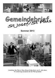 Gemeindebrief Sommer 2013 - Bistum Mainz