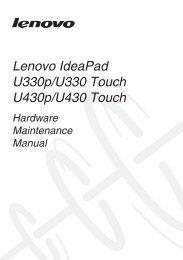 Lenovo IdeaPad U330p/U330 Touch U430p/U430 Touch