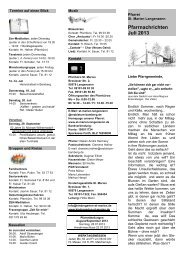 Pfarrnachrichten Juli 2013 - Erzbistum Bamberg