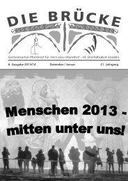 6. Ausgabe 2013/14 Dezember / Januar 21. Jahrgang - Erzbistum ...