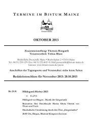Die Termine im Bistum Mainz (pdf Download)