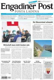 Engadiner Post Nr. 143 vom 07. Dezember 2013 (PDF, 5155kB)