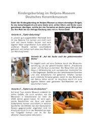 Kindergeburtstag im Hetjens-Museum