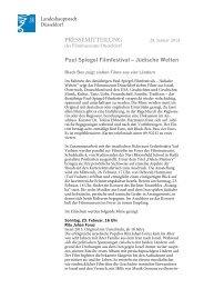Pressemitteilung Paul Spiegel Filmfestival