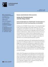 Ausbau der Eisenbahnstrecke nach Den Haag ... - Stadt Düsseldorf