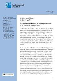 25 Jahre gute Pflege für den Südpark - Stadt Düsseldorf