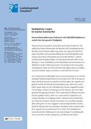 Stadtgärtner sorgen für bunten Sommerflor - Stadt Düsseldorf