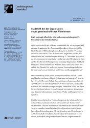Stadt hilft bei der Organisation neuer ... - Stadt Düsseldorf