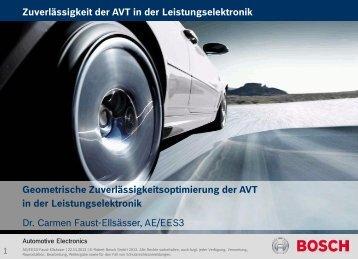 Zuverlässigkeit der AVT von Leistungsmodulen - Dynardo GmbH