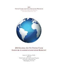 2013 global go to think tank index - Ecologic Institute