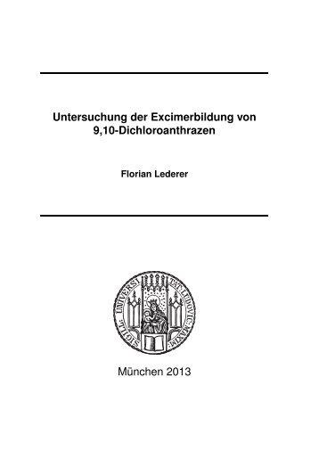 Untersuchung der Excimerbildung von 9,10-Dichloroanthrazen