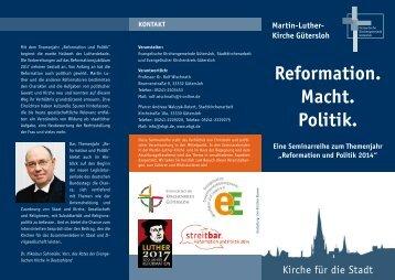 Reformation und Politik 2014 - ekgt.de