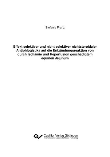 Effekt selektiver und nicht selektiver nichtsteroidaler Antiphlogistika ...