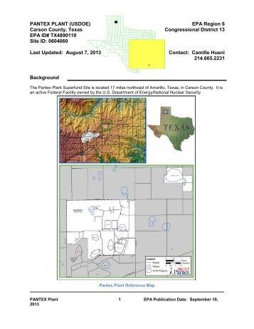 PANTEX PLANT - US Environmental Protection Agency